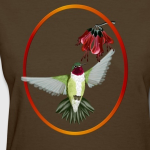 Red Throated Hummingbird - Oval - Women's T-Shirt