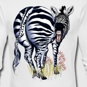 Big Butt Zebra - Men's Long Sleeve T-Shirt by Next Level