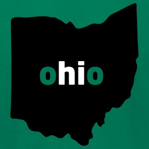 Hi, Ohio (Ohio University) - Men's T-Shirt by American Apparel