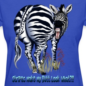 Zebra Fat Butt Stripes - Women's T-Shirt