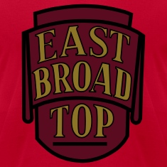 East Broad Top Railroad - Metallic Gold Print/Maroon/Black on Brown T-Shirt (Men's)