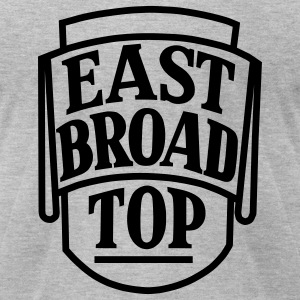 East Broad Top Railroad - Black Logo T-Shirt (Men's) - Men's T-Shirt by American Apparel