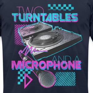 AA Two Turn Tables Navy - Men's T-Shirt by American Apparel