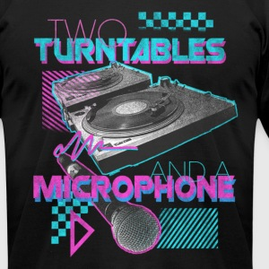 AA Two Turn Tables Black - Men's T-Shirt by American Apparel