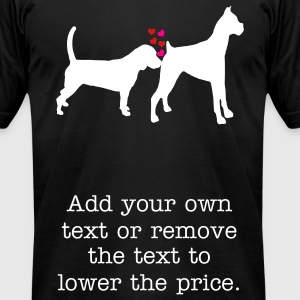 dogs T-Shirts - Men's T-Shirt by American Apparel