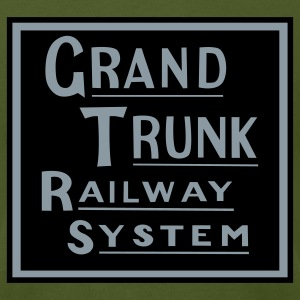 Grand Trunk Railway - Metallic Silver/Black Print (Men's) - Men's T-Shirt by American Apparel
