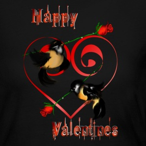 Valentines Day Sparrow - Women's Long Sleeve Jersey T-Shirt