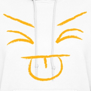 tongue out emoticon Hoodies - Women's Hoodie