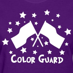 color guard flag stars Women's T-Shirts