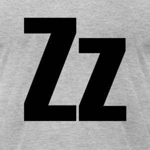 Zz Helvetica Alphabet T-Shirts - Men's T-Shirt by American Apparel