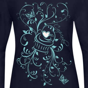 Floral Cupcake - Women's Long Sleeve Jersey T-Shirt