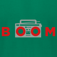 Design ~ bOOmbox - Choose your own dark AA shirt color