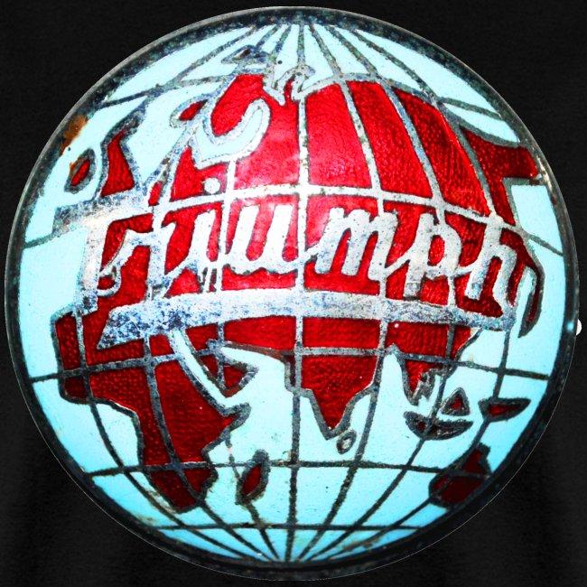 Vintage Triumph globe emblem