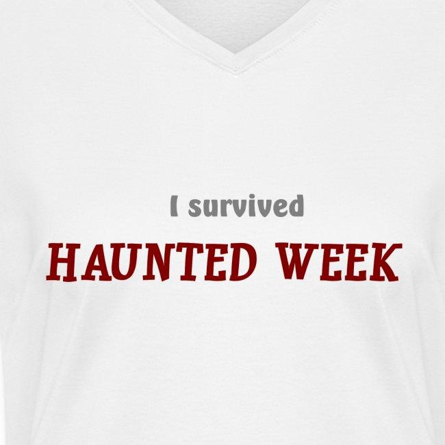 Haunted Week women's v-neck T