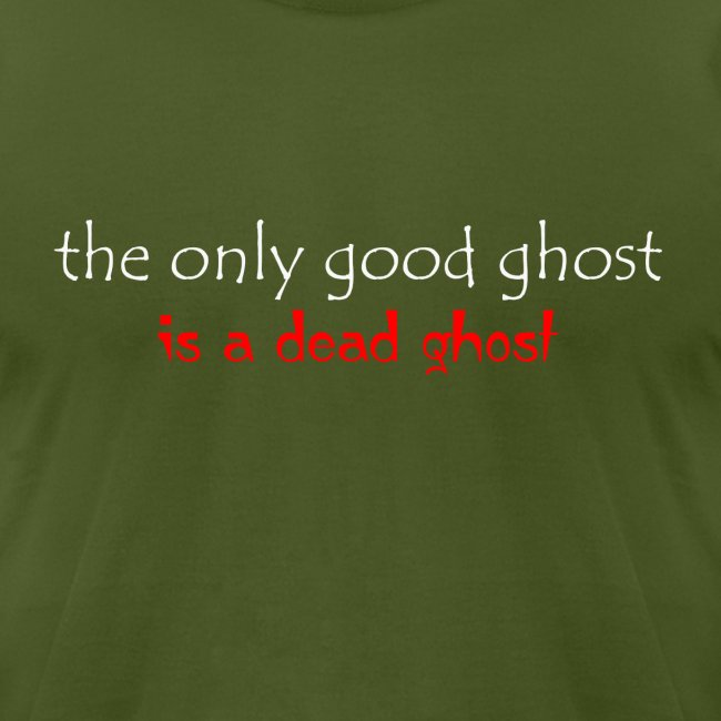 OnlyGood Ghost Men's AA T white print