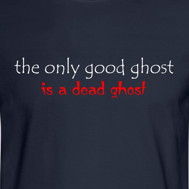 OnlyGood Ghost Men's long sleeve T white print