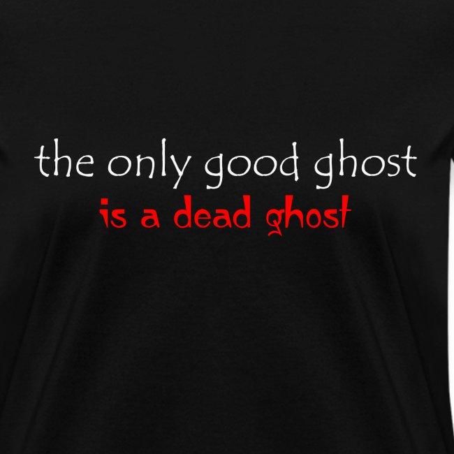 OnlyGood Ghost Women's standard weightT white print