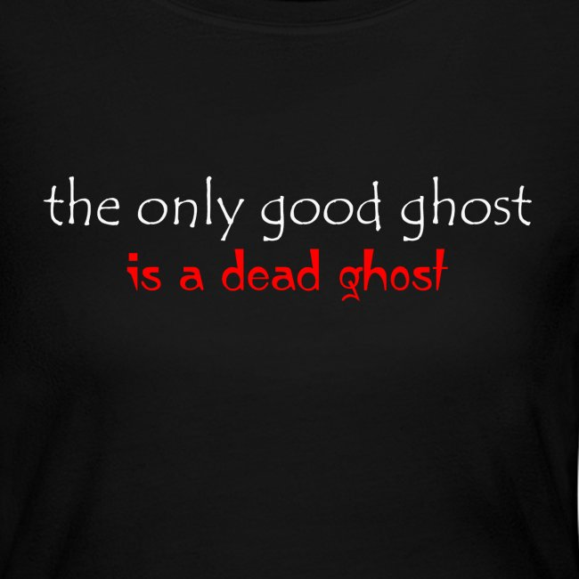 OnlyGood Ghost Women's long sleeve T white print