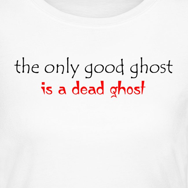 OnlyGood Ghost Women's long sleeve T black print
