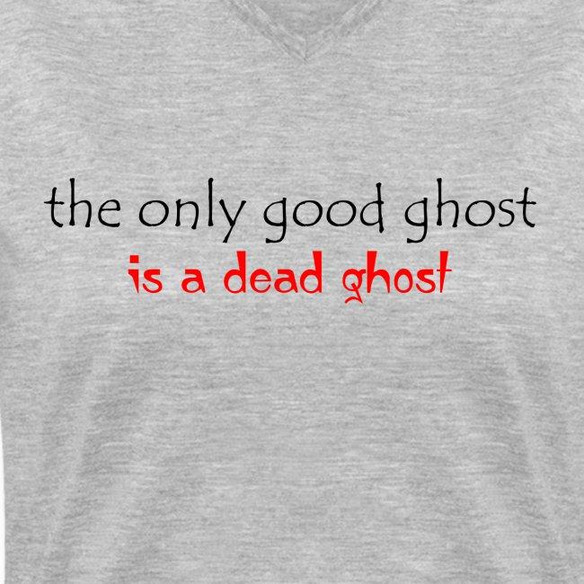 OnlyGood Ghost Women's v-neck T black print