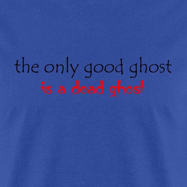 OnlyGood Ghost men's standard weight T black print