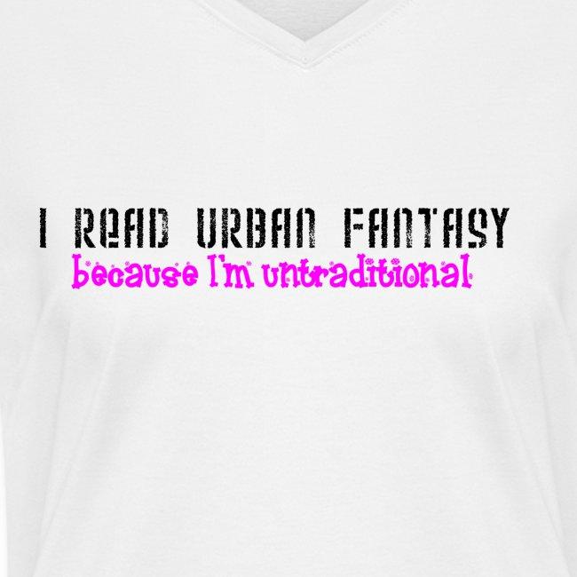 UF untraditional women's v-neck T