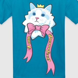 Kawaii Cat I Am Purrrrrfect 1860 x 4000pxl Kids' Shirts - Kids' T-Shirt