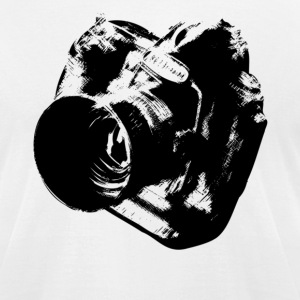 Camera from heaven - Men's T-Shirt by American Apparel