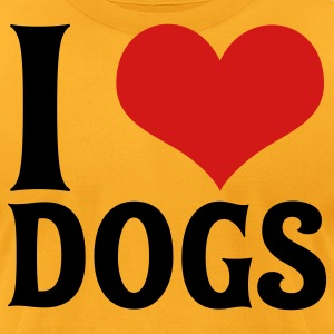 I Love Dogs - Men's T-Shirt by American Apparel