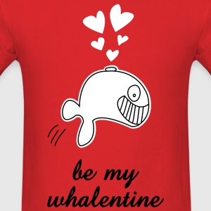 Whale Valentines Day t-shirt - Men's T-Shirt