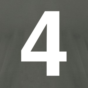 helvetica number 4 T-Shirts - Men's T-Shirt by American Apparel