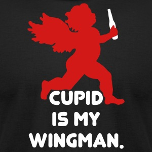 Cupid Is My Wingman T-Shirts - Men's T-Shirt by American Apparel