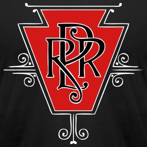 Pennsylvania Railroad T-Shirts - Men's T-Shirt by American Apparel