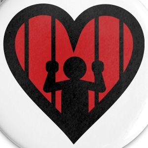Love is a Jail Buttons - Large Buttons