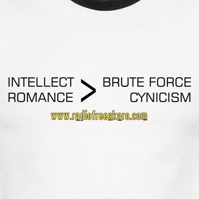 Intellect & Romance (Ringer Tee)