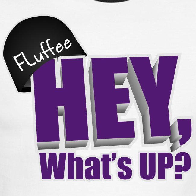 Men's Lightweight Ringer Tee Hey, What's up?
