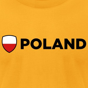 Poland Emblem Side 2 (3c) T-Shirts - Men's T-Shirt by American Apparel
