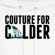 Design ~ Couture For Calder Men's White Hoodie