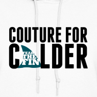 Design ~ Couture For Calder Women's White Hoodie