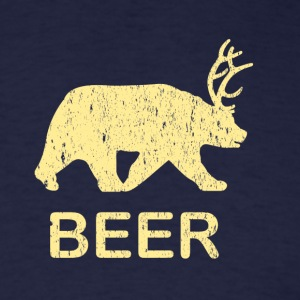 Funny Gym Shirt - Beer Bear Deer Vintage T-Shirt - Men's T-Shirt