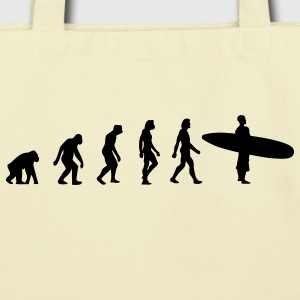 Surfing Evolution 3 (1c) Bags  - Eco-Friendly Cotton Tote