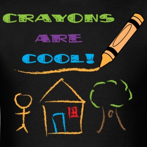 crayons_are_cool - Mens - Men's T-Shirt