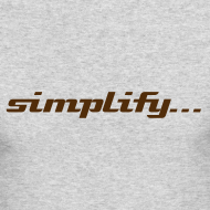 Design ~ Simplify / Add Lightness : American Apparel long-sleeve t-shirt- Grey w/ Chocolate