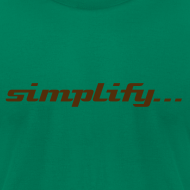 Design ~ Simplify / Add Lightness : American Apparel t-shirt- Light Blue w/ Chocolate