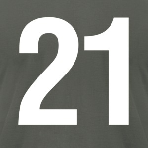 helvetica number 21 T-Shirts - Men's T-Shirt by American Apparel