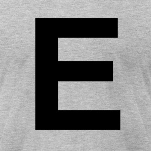 helvetica letter E T-Shirts - Men's T-Shirt by American Apparel