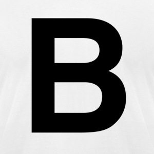 helvetica letter B T-Shirts - Men's T-Shirt by American Apparel