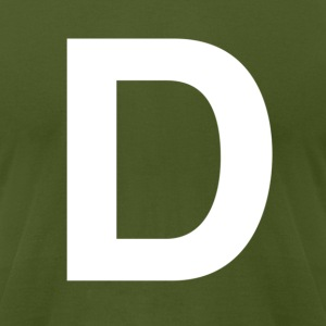 helvetica letter D T-Shirts - Men's T-Shirt by American Apparel