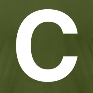 helvetica letter C T-Shirts - Men's T-Shirt by American Apparel