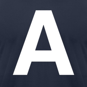 helvetica letter A T-Shirts - Men's T-Shirt by American Apparel